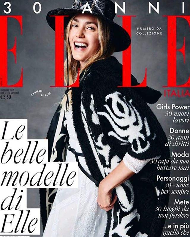 Yasmin le bon 30 Jahre ELLE Titelseite 01