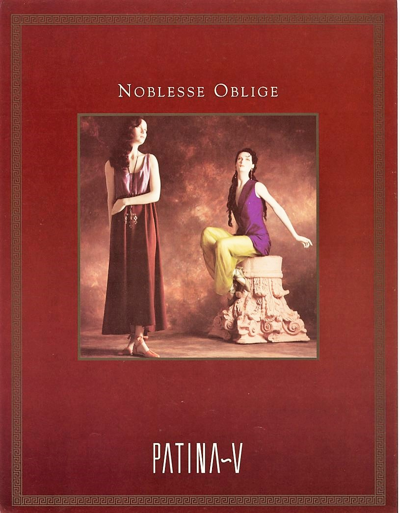 Patina V Noblesse oblige, Katalog 03